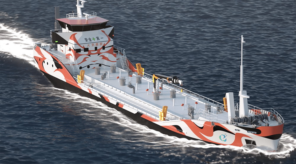 Fully electric tanker
